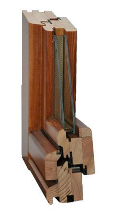 Finestre e Portefinestre in Legno - tipo 68